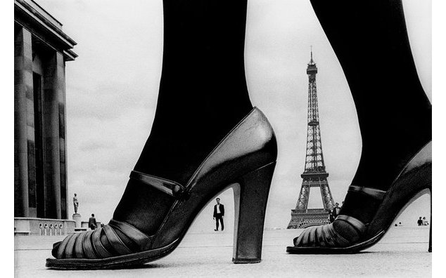 "Frank Horvat, For ""STERN"", shoes and Eiffel Tower, 1974, Paris, France © Frank Horvat"
